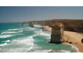 这,十二,倡导者,自然,悬崖,海滩,海,水,沙,岩石,维多利亚,壁纸,图片