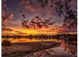 地球,河,天鹅,河,索尔特,要点,西方的,澳大利亚,天空,日落,自然,图片