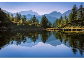 地球,反射,自然,树,山,壁纸,图片