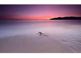 地球,海洋,沙,地平线,日落,海岸,壁纸,