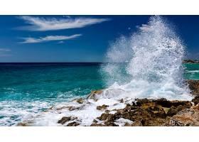 地球,波浪,海洋,海,海岸,岩石,地平线,壁纸,图片