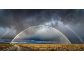 地球,彩虹,云,风景,地平线,路,壁纸,
