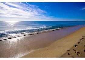 地球,海滩,海,沙,水,云,波浪,天空,脚印,壁纸,
