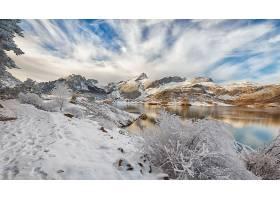 地球,湖,湖,自然,冬天的,山,雪,壁纸,(1)