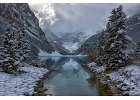 地球,湖,湖,自然,冬天的,雪,壁纸,(1)
