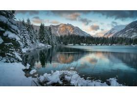 地球,湖,湖,自然,冬天的,雪,山,壁纸,(1)