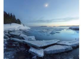地球,湖,湖,自然,冰,冬天的,壁纸,图片