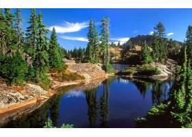 地球,湖,湖,自然,水,森林,山,风景,壁纸,图片