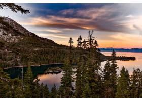 地球,湖,美国塔霍湖,湖,森林,湖,岛,树,自然,风景,壁纸,图片
