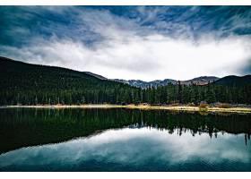 地球,反射,自然,湖,森林,云,壁纸,图片