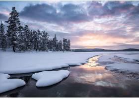 地球,冬天的,自然,雪,风景,云,溪流,壁纸,图片