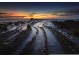 地球,海景画,海洋,地平线,岩石,自然,日落,壁纸,图片