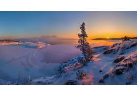 地球,冬天的,自然,雪,风景,日出,壁纸,(1)图片