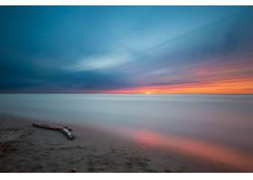 地球,海洋,自然,日落,地平线,沙,天空,壁纸,图片