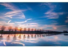 地球,河,自然,天空,反射,绿树成荫,壁纸,图片