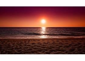 地球,海洋,自然,日落,太阳,地平线,沙,壁纸,图片