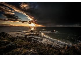 地球,海洋,自然,日落,阳光,云,地平线,壁纸,图片
