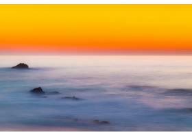 地球,海洋,地平线,天空,日落,橙色的,自然,壁纸,图片
