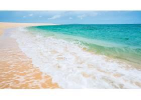 地球,海洋,海,绿松石,沙,地平线,海滩,壁纸,