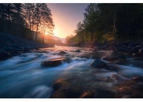 地球,河,自然,日出,岩石,壁纸,图片