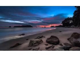 地球,海滩,自然,沙,地平线,海洋,日落,云,壁纸,