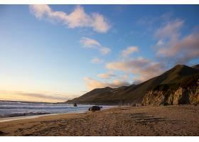 地球,海滨,Garrapata,海滩,加利福尼亚,海滩,自然,海岸,沙,地平线