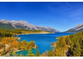 地球,湖,湖,天空,山,森林,秋天,风景,自然,壁纸,