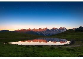 地球,湖,湖,山,反射,自然,风景,天空,明星,壁纸,