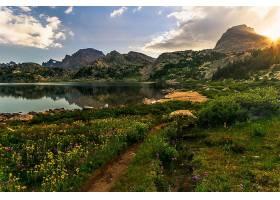 地球,湖,湖,山,夏天,自然,花,风景,壁纸,