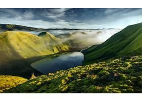 地球,湖,湖,山,天空,自然,风景,雾,山谷,壁纸,