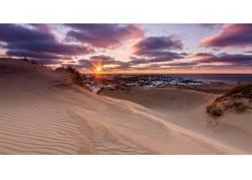 地球,海滩,日落,海洋,沙,地平线,天空,自然,壁纸,
