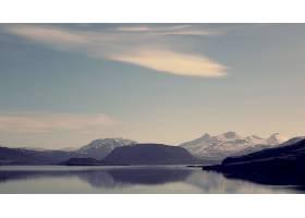 地球,湖,湖,水,反射,山,云,天空,风景,壁纸,