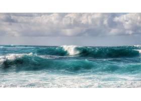 地球,波浪,海洋,水,绿松石,云,自然,壁纸,图片