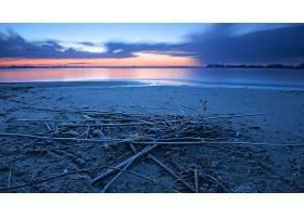 地球,海滩,沙,地平线,自然,湖,壁纸,