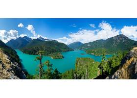 地球,湖,湖,山,风景,树,森林,壁纸,