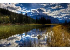 地球,湖,湖,山,风景,自然,反射,森林,云,直接热轧制,壁纸,