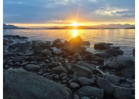 地球,湖,湖,平头,湖,蒙大拿州,自然,岩石,日出,风景,壁纸,