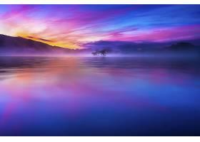 地球,湖,湖,日本,蓝色,山,自然,日出,云,反射,风景优美的,壁纸,