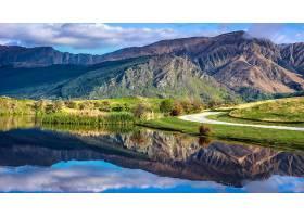 地球,反射,自然,山,风景,壁纸,图片