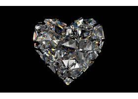 钻石,心,艺术的,壁纸,图片