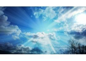 阳光,天空,云,阳光,蓝色,壁纸,图片