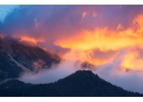 日出,山,斯洛文尼亚,云,天空,雾,自然,早晨,壁纸,图片