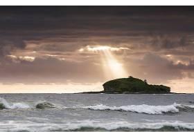 阳光,自然,岩石,海洋,地平线,岛,壁纸,图片
