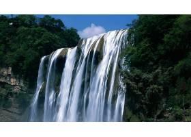 瀑布,瀑布,自然,树,壁纸,图片