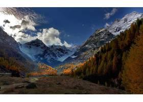 山,山脉,自然,风景,秋天,森林,壁纸,(1)图片