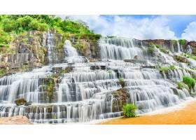 瀑布,瀑布,自然,植物,岩石,水,壁纸,(1)图片