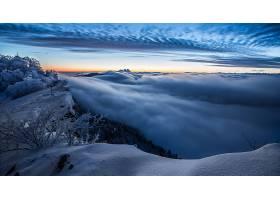 雾,自然,风景,地平线,冬天的,雪,天空,壁纸,图片