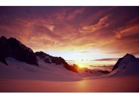 山,山脉,雪,冬天的,自然,日出,壁纸,图片
