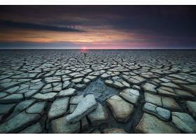 沙漠,风景,日出,自然,壁纸,