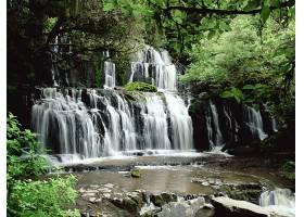 瀑布,瀑布,自然,植物,水,壁纸,图片